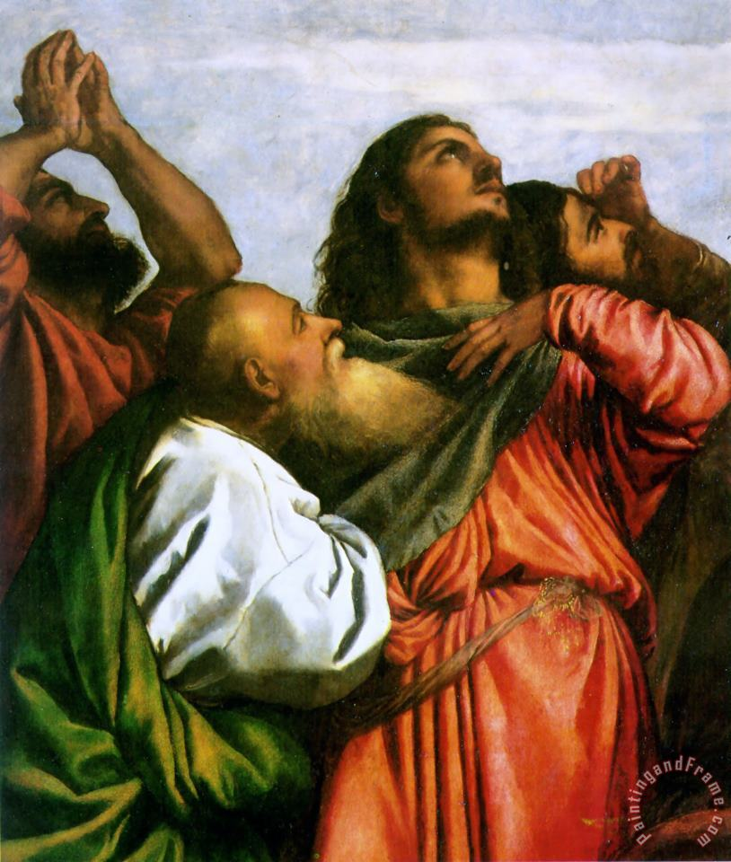 The Assumption of The Virgin [detail 1] painting - Titian The Assumption of The Virgin [detail 1] Art Print